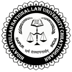 Hidayatullah National Law University logo