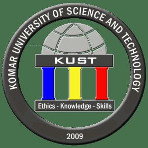 Komar University of Science and Technology logo